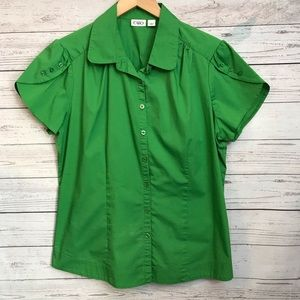 Cato Cap Sleeve Green Cato Shirt Size Large